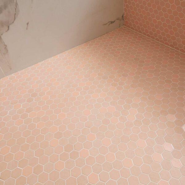 Trentino rosa blush hexagon mosaik
