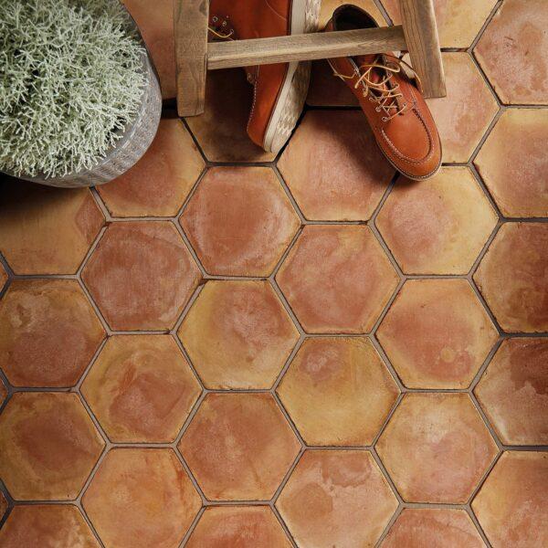 Handmade Classic Terrakotta hexagonfliser